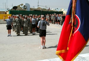 Camp Phoenix Celebrates July 4th With Re-enlistment Ceremony
